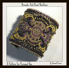 Bead+Tutorial+Steampunk+Brocade+Beaded+Bracelet+by+HannahRachel,+$12.00