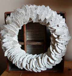 Holy Craft: Book page wreath