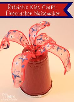 Patriotic Kids Craft: Firecracker Noisemaker!