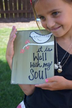 it is well with my soul handmade card by SlightImperfections