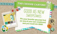 Enter to win the Choose Cartons Good as New Sweepstakes for your chance to win a $500 Hobby Lobby Gift Card!