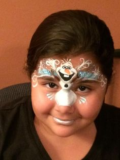 Olaf Frozen face painting