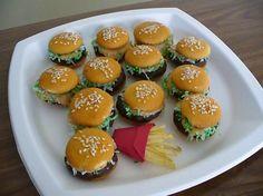 cheeseburgers, kid snacks, food, april fools day, cheeseburger cookies, fun, kid parties, dessert, fool recip