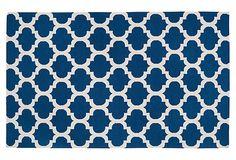 Laurel Flat-Weave Rug, Blue/White on OneKingsLane.com