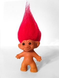 Original Wishnik Troll Doll - Red Hair
