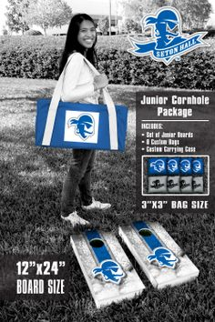 An http://www.GogelAutoSales.com RePin     Our Seton Hall University Pirates Junior 12x24 Cornhole Game Package. Get your custom set at victorytailgate.com     We'd Love you to Like us on FB! https://www.facebook.com/GogelAuto  Since 1962, Rt. 10, East Hanover