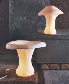 Chanterelle Porcelain Mushroom Lamp