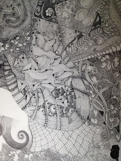"This is a work in progress... 11""by 14""-using a .13mm Rotring Rapidograph pen."