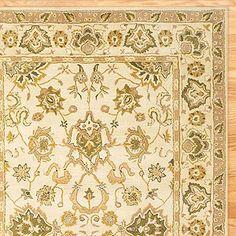 agra wool rug, ivory