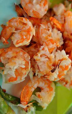 Low Calorie Baked Coconut Honey Shrimp