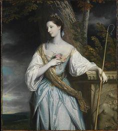 Anne Dashwood (1743–1830), Later Countess of Galloway, Dressed as a Shepherdess, by Sir Joshua Reynolds, 1764. Metropolitan Museum of Art.