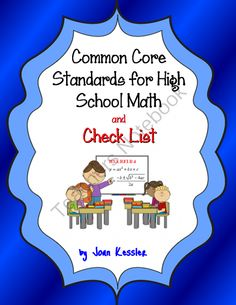 Common Core Standard for High School Mathematics with Checklist and Free App from CoolMath - FunMath on TeachersNotebook.com -  (20 pages)  - Manage, track and coordinate the Common Core High School Mathematics Standards with this checklist for Grades Nine, Ten, Eleven and Twelve.  The checklist contains all high school math standards.