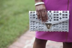 Silver clutch from @marshalls.