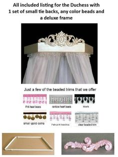 Hey, I found this really awesome Etsy listing at https://www.etsy.com/listing/129854046/bed-canopy-crown-in-duchess-style