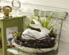 Easter bunny ~ front porch decor