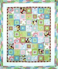 Retro Flower Quilt  Made using Amy Butler's Gypsy Caravan range of fabrics.