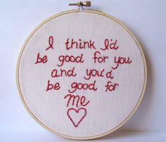 Super cute #embroidery #craft #love