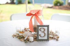 rustic beach centerpieces, country beach wedding, Katie Nesbitt Photography