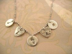 Pure 999 silver initial charm necklacecustomize with by MayaBelle, $99.50