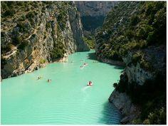 Seafoam green waters of France..