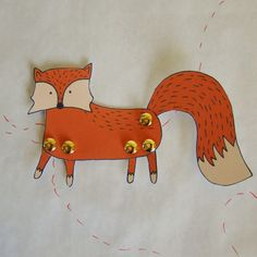 Make your own Fox diy paper doll by FandGForest on Etsy