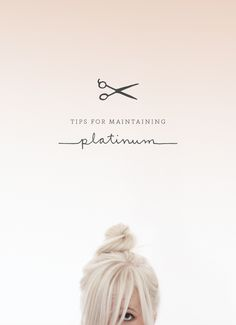 Platinum hair tips