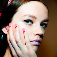 Nail Art Trend: The Reverse French Manicure (Pictured here: Deborah Lippmann nails at Honor's 2014 fall runway show)