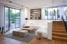 Architecture Design, Find My House Simple Interior Staircase White Living Ideas: Find my House in Ramat Hasharon by Levy Chamizer Architects...