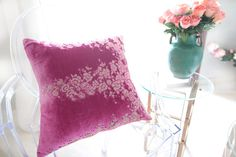 Moroccan caftan pillow in Fuschsia pink!  https://www.etsy.com/listing/168886845/moroccan-caftan-pillow
