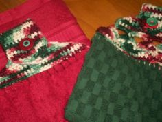 PLUSH TOWEL TOPPERS - free crochet pattern
