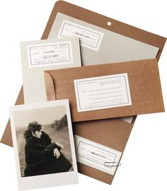 Bill Phelps  Identity System Bill Phelps is a fashion and advertising photographer who specializes in timeless black and white compositions. CSA designed his stationery system with a refined, yet hand-made, feel. Newsprint and craft-colored envelopes with typographic labels provided the perfect backdrop for the presentation of his work though mailings. from csadesign.com