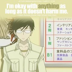 Some words of wisdom from kyoya