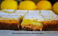 lemon bars, lemons, sweet, food, free lemon, bar recipes, gluten free, glutenfre lemon, dessert