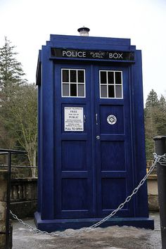 Blue - Police Box > Dr. Who was here!!