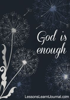@LLJournalAust: What do you need? Is God enough?