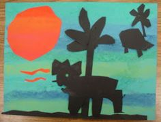 Kindergarten dinosaur silhouettes