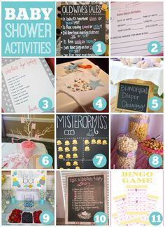 If you are looking for fun and easy baby shower activities, check out this post. See more baby shower party ideas at CatchMyParty.com.