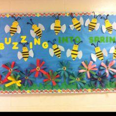 spring bulletin board, bulletin boards preschool