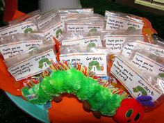 birthday party favors, hungry caterpillar birthday, birthday parties, 1st birthdays, kid parties