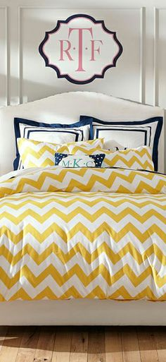 Chevron Duvet Collection #girls #bedrooms