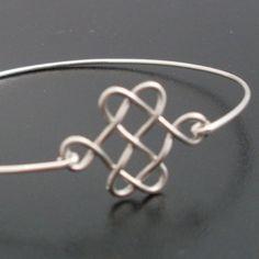 Celtic Knot Bracelet  Silver Celtic Bangle Celtic by FrostedWillow, $14.95 Celtic Knot Bracelets, Celtic Bangles, Bangles Celtic, Atlanta Jewlery, Celtic Knots, Wire, Knots Bracelets, Bracelets Silver, Jewelry