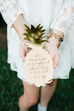 Aloha bridal shower inspiration | Photo by Megan Welker | Design by Beijos Events | Read more - http://www.100layercake.com/blog/?p=78612
