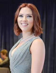 Scarlett Johansson Mid-Length Bob short hair, bobs, scarlett johansson, red hair, colors, blondes, beauty, eyes, actresses