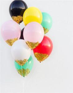 confetti dipped balloons studio diy
