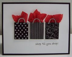 Shopping bags on card