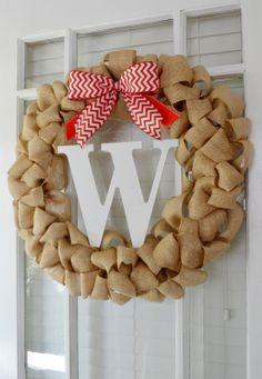 724 South House: DIY: My Easy Burlap Wreath. Monogram Initial. Tutorial