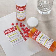 A prescription for love! (with red hots) haha cute idea!