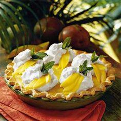 cream pies, chocolates, tart, tropical paradise, pie recipes, cooking tips, mango cream, whipped cream, dessert