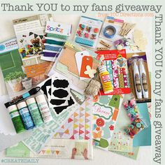Thank YOU to My Facebook Fans Giveaway