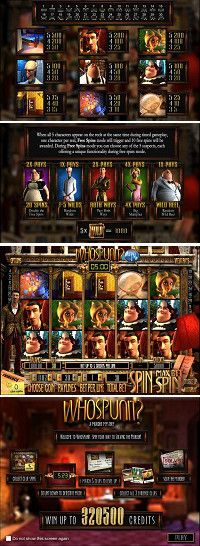 Whospunit slot game:  Play an online detective to solve a murder while collecting free spins and bonuses in one of Betsoft finest slots ever | Play online here for free!